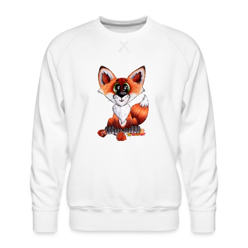 llwynogyn - a little red fox - Miesten premium-collegepaita