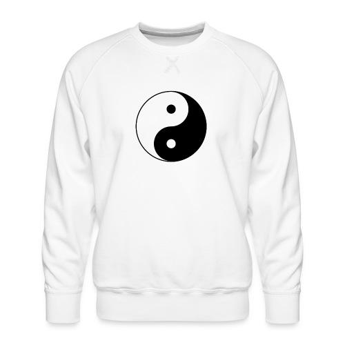 800px Yin yang svg 1 - Männer Premium Pullover