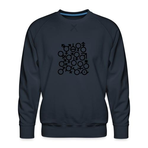 Multi Gender B/W - Mannen premium sweater