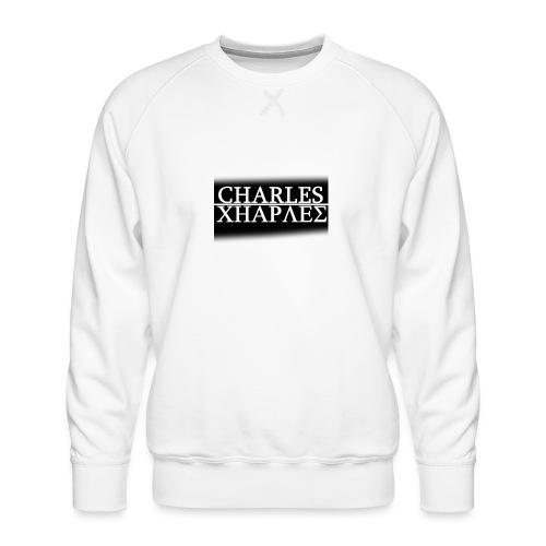CHARLES CHARLES BLACK AND WHITE - Men's Premium Sweatshirt
