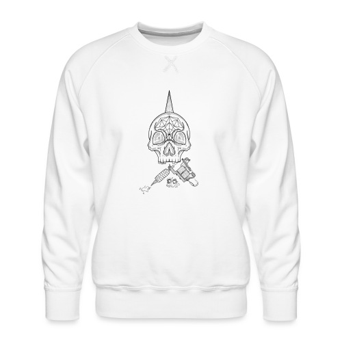 Skull tattoo - Sweat ras-du-cou Premium Homme