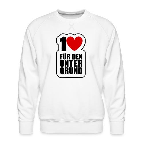 1 Herz für den Untergrund - Original Logo - Männer Premium Pullover