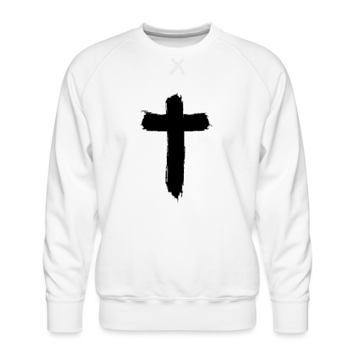 Brushed-Cross - Männer Premium Pullover
