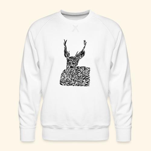 deer black and white - Miesten premium-collegepaita