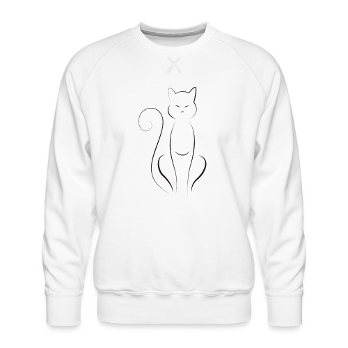 Happy Cat - Miesten premium-collegepaita