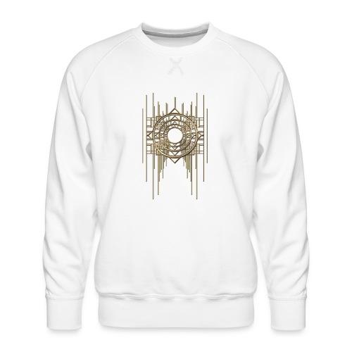 Abstract Geometry Gold Metal Art Deco Vintage - Men's Premium Sweatshirt