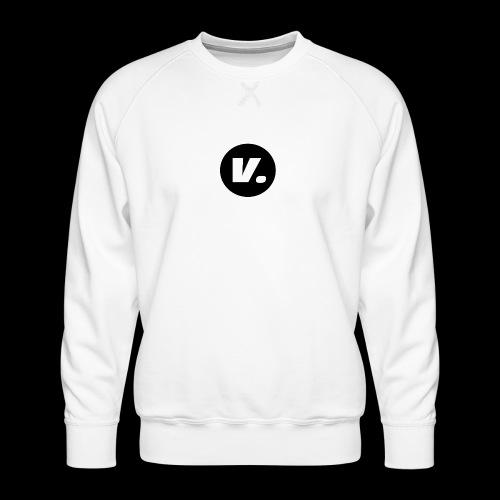 Ventura White V Logo - Mannen premium sweater
