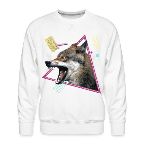 wild wolf - Sudadera premium para hombre