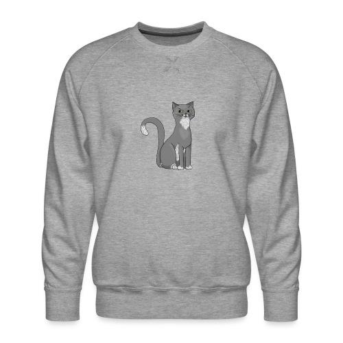 Grijze kat voor kattenliefhebber - Men's Premium Sweatshirt