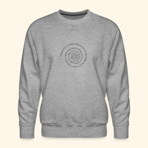 SPIRAL TEXT LOGO BLACK IMPRINT - Men's Premium Sweatshirt