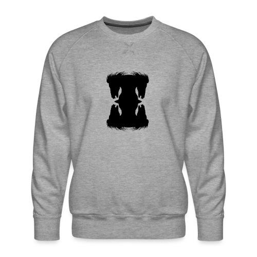 Cheval cabré en ombres chinoise - Sweat ras-du-cou Premium Homme