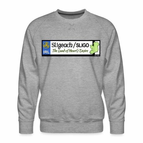 CO. SLIGO, IRELAND: licence plate tag style - Men's Premium Sweatshirt