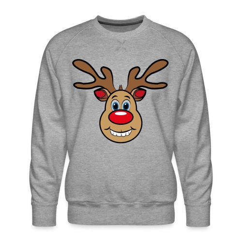 Ugly Christmas Weihnachten Xmas Rudi Reindeer - Männer Premium Pullover