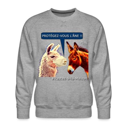 PROTEGEZ-VOUS L'ÂNE !! - Coronavirus - Männer Premium Pullover