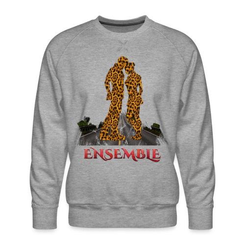 Ensemble leopard - couleur rouge crocodile - Sweat ras-du-cou Premium Homme