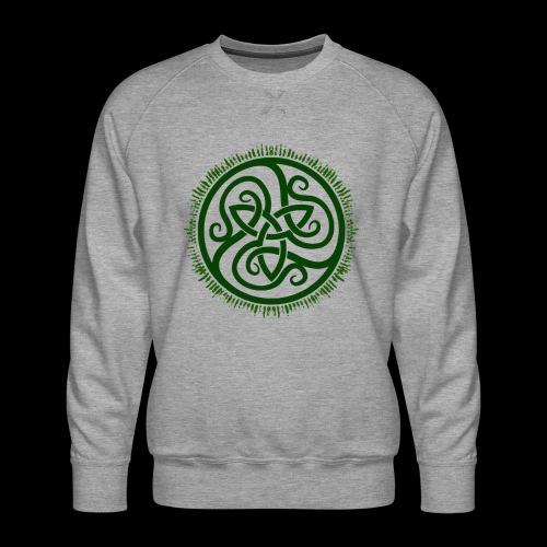 Green Celtic Triknot - Men's Premium Sweatshirt