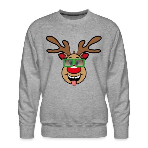 Weihnachten Rudi mit Brille - Männer Premium Pullover