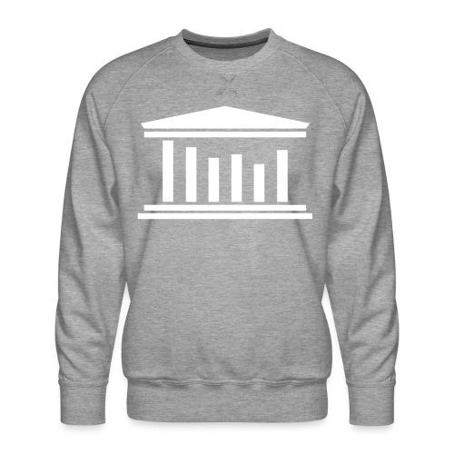 TST Logo White - Men's Premium Sweatshirt