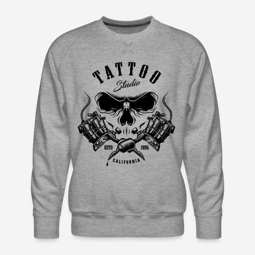 tattoo studio california skull - Männer Premium Pullover