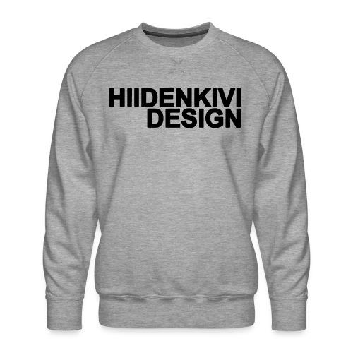 Hiidenkivi-Black - Men's Premium Sweatshirt