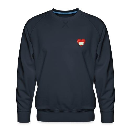 Herz mit Mundschutz - Männer Premium Pullover