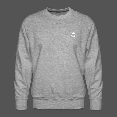 Anker Design T shirt Klassischer weißer Anker - Männer Premium Pullover