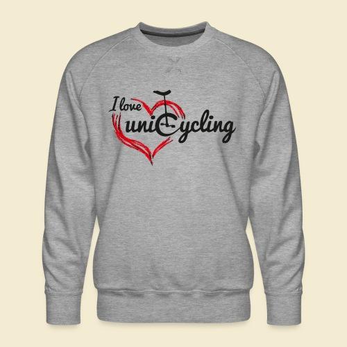 Einrad | I love unicycling - Männer Premium Pullover