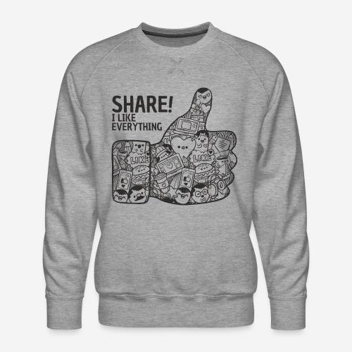 like social media share - Männer Premium Pullover