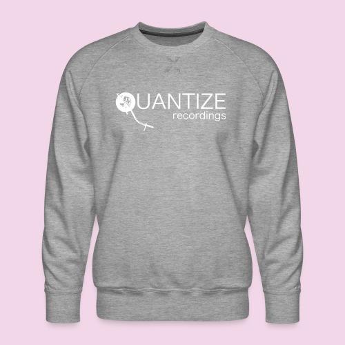 Quantize White Logo - Men's Premium Sweatshirt