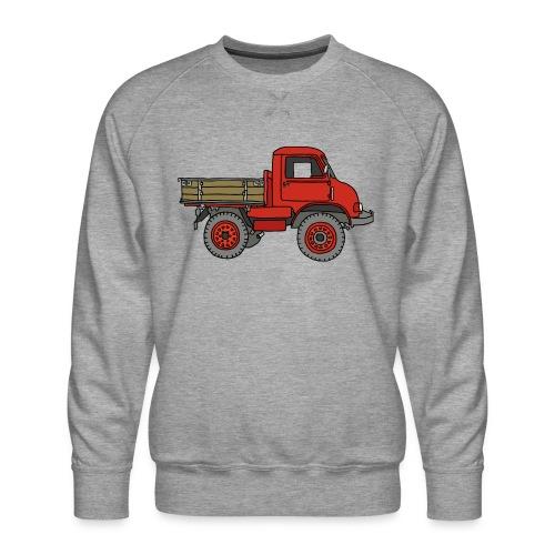 Roter Lastwagen, LKW, Laster - Männer Premium Pullover