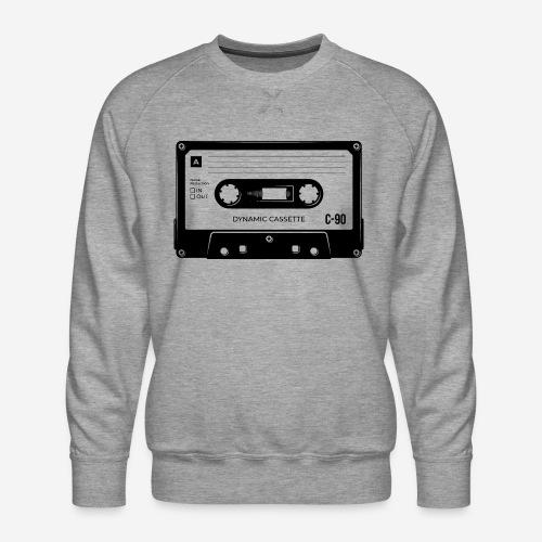 stereo casette tape vintage - Männer Premium Pullover