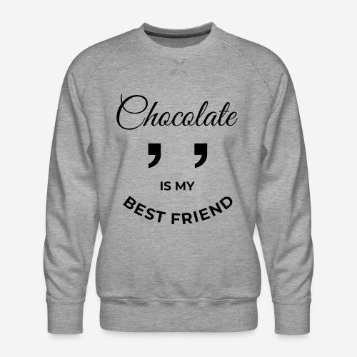 Schokolade bester Freund - Männer Premium Pullover