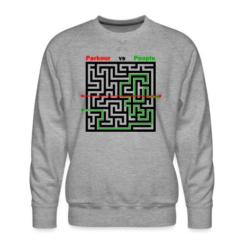 Parkour Maze parkour vs people - Herre premium sweatshirt