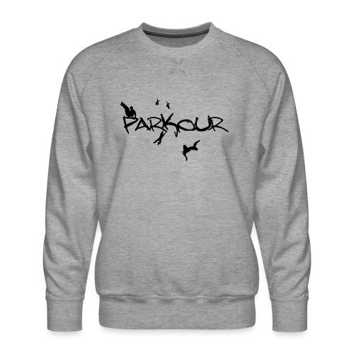 Parkour Sort - Herre premium sweatshirt