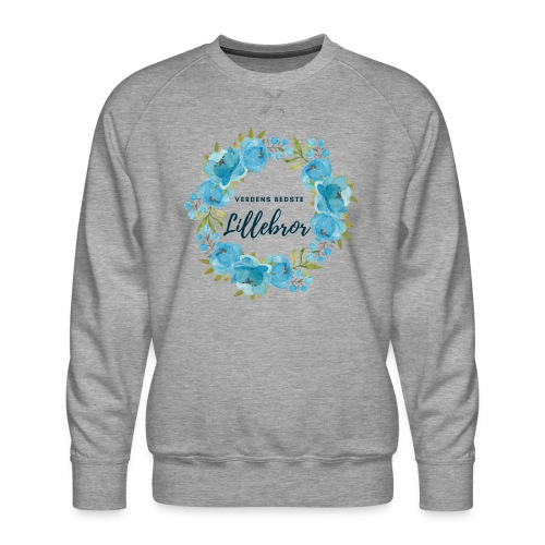 Verdens bedste lillebror - Herre premium sweatshirt