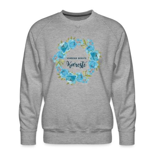 Verdens bedste kæreste - Herre premium sweatshirt