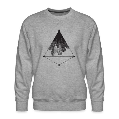 Ville triangle - Sweat ras-du-cou Premium Homme