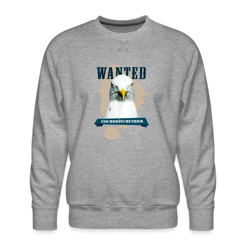 WANTED - Fischbrötchendieb - Männer Premium Pullover