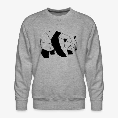 Panda geometrisch - Männer Premium Pullover