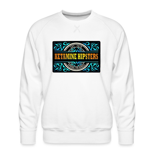 Black Vintage - KETAMINE HIPSTERS Apparel - Men's Premium Sweatshirt