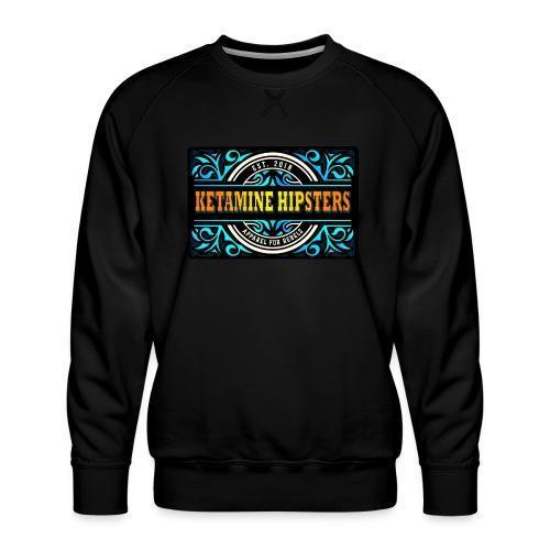 Black Vintage - KETAMINE HIPSTERS Apparel - Men's Premium Sweatshirt