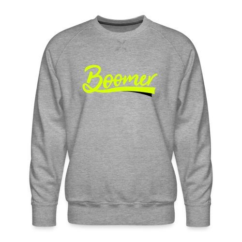 Boomer - 2 color text - diy - Miesten premium-collegepaita