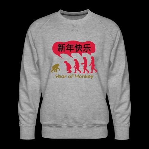 kung hei fat choi monkey - Men's Premium Sweatshirt