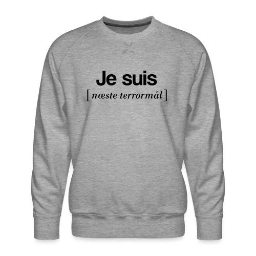 Je suis (sort skrift) - Herre premium sweatshirt