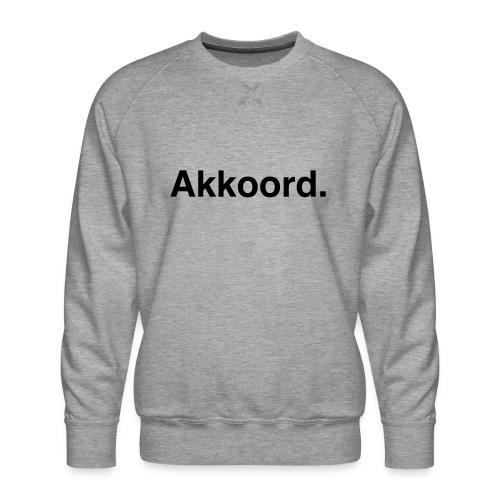Akkoord - Mannen premium sweater