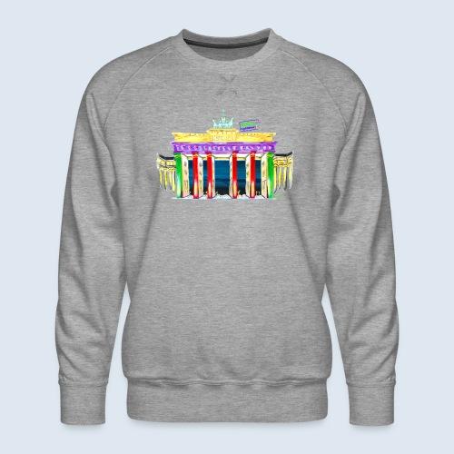 """Berlin """"Brandenburger Tor"""" PopArt Design - Männer Premium Pullover"""