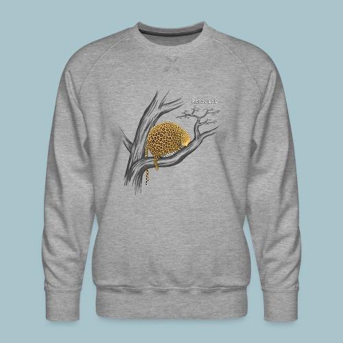 Rollin' Wild - Leopard on tree - Men's Premium Sweatshirt