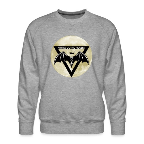 Single WGM Logo Moon Design - Men's Premium Sweatshirt