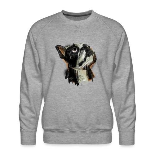 Französische Bulldogge Zeichnung - Männer Premium Pullover