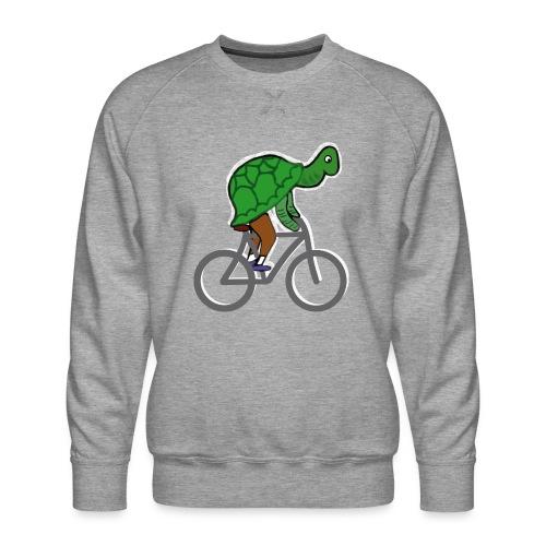 Schildkröte fährt Rad - Männer Premium Pullover